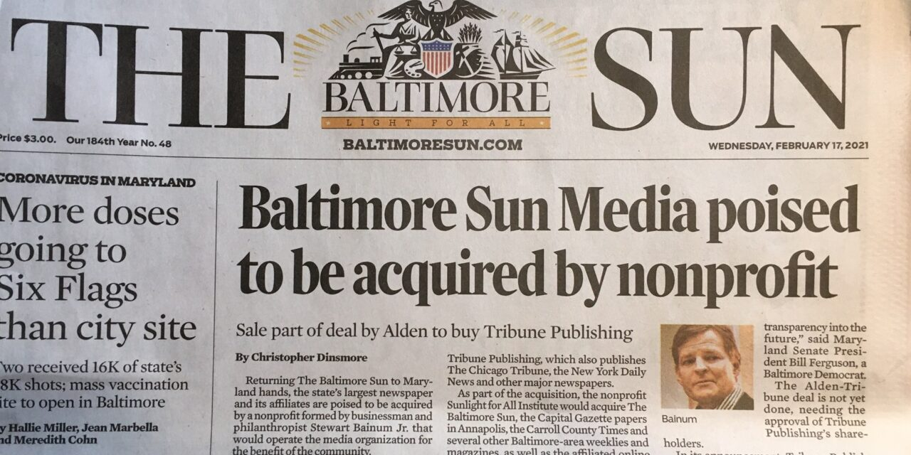 State Roundup: Sun to be sold to nonprofit; Van Hollen, state lawmakers urge action on housing crisis