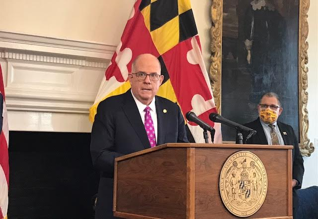 Hogan defends Maryland's COVID-19 vaccine distribution record
