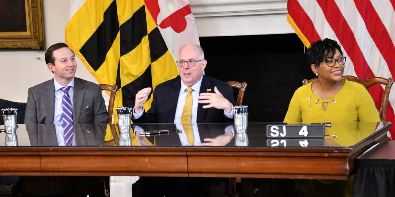 State Roundup: Hogan signs bills repealing state song, legalizing sports betting among many others