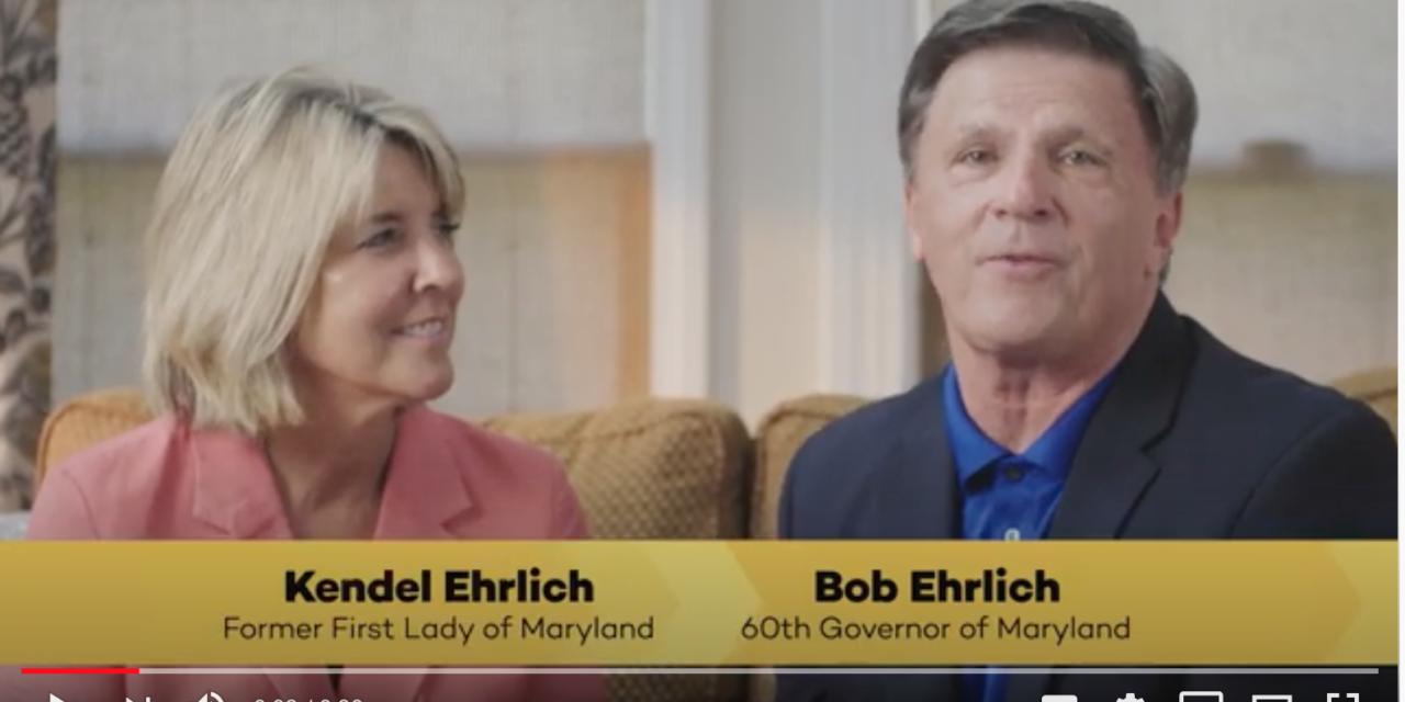 Fmr. Gov. Bob Ehrlich and former First Lady Kendel Ehrlich urge Marylanders to get vaccinated