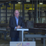 Hogan touts $72 million partnership for state's first offshore wind steel fabrication center